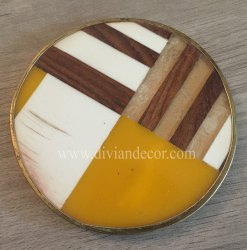 Decorative Resin Tea Coaster