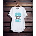 Wraigh Casual Wear Mens Printed Round Neck White T Shirt