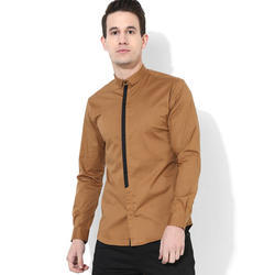 Mens Brown Clubwear Shirt