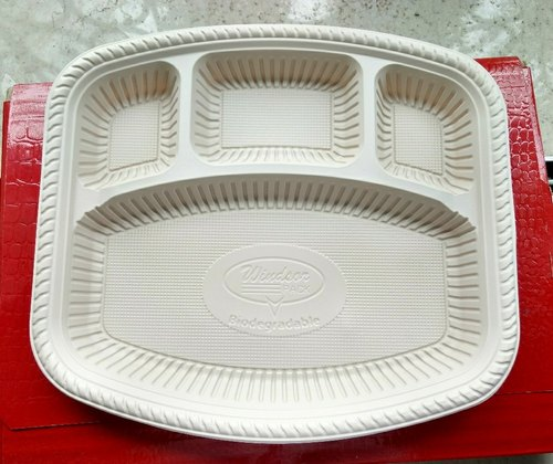 Biodegradable Cornstarch Plate 4cp Square | ID: 20484911655