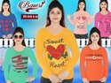Pink Daily Wear Bawri Full Sleeve Ladies T-shirts
