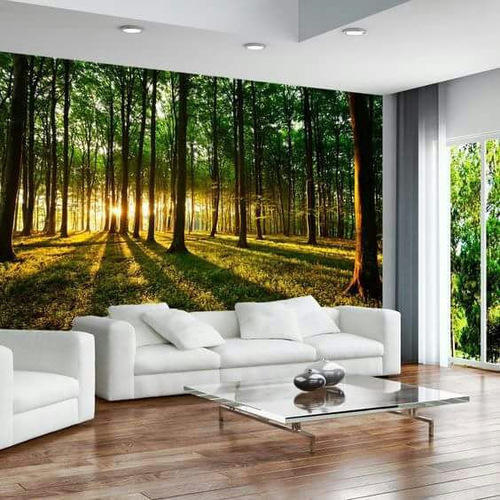 Paper With Plastic Coated Printed 3D Stylish Nature Wallpaper, Rs