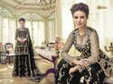 Latest Embroidered Net Sharara Suit