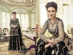 Swagat Latest Embroidered Net Sharara Suit