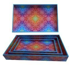 Printed Wooden Tray Sets