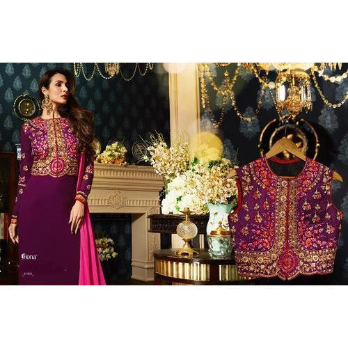 Georgette Party Wear Fiona Designer Suit With Koti Rs 1595 Piece