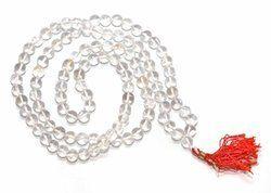 Crystal Quartz White Rosary Necklace