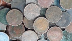 50 Coins Lot - BRITISH INDIA Queen Victoria QV - Circulated Medium Condition - 1/12 A 1962 - 1901