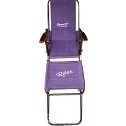 Textilene Fabric(Seat) Portable Double Purpose Recliner Sun Folding Chair