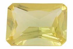 Yellow Glass Citrine Gemstone