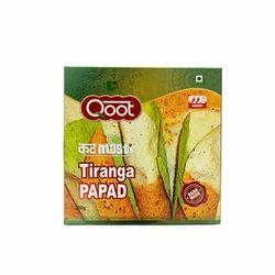 Pale yellow Salty Tiranga Papad