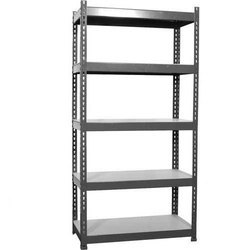 Upto 7 Feet Mild Steel Slotted Angle Storage Rack, for Warehouse, Upto 200 Kg