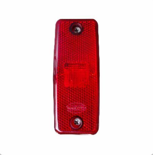 Rectangular Side Marker Lamp Red, Shape: Rectangular   ID