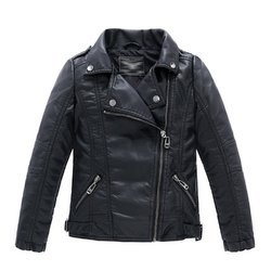 Black Kids Leather Jacket