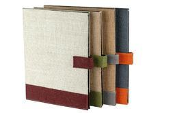 Jute Conference Folder with Magnetic Lock