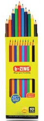 Multicolor Polymer Lezing Colour Pencil-Big, For Coloring, Packaging Size: 10Pcs