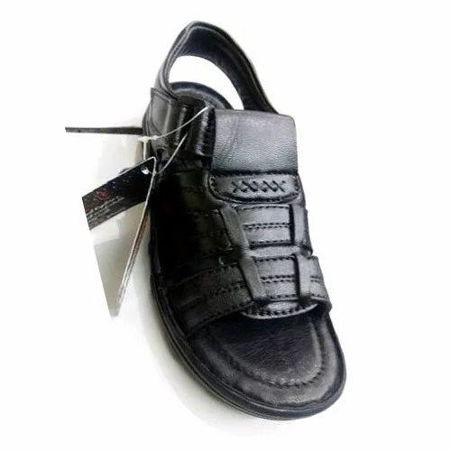 31d60e04249a Leather Black Round Sandal