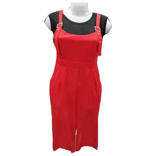 24b543f808 Plain Sleeveless Red And Black Dungaree, Size: XL, Rs 280 /piece ...