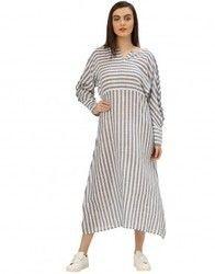 Printed Handloom Kimono Style Dress