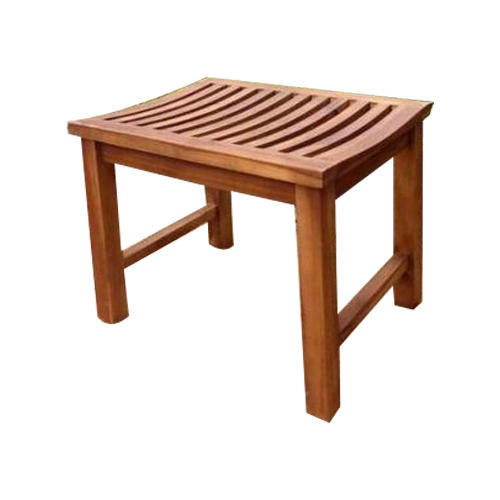 Lovely Living Design Brown Wooden Garden Stool