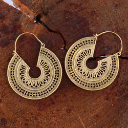 Mandala Design Women Fashion Hoop Earring