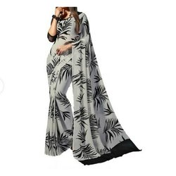 STM Printed Fancy Saree, 6.3 m (with blouse piece)
