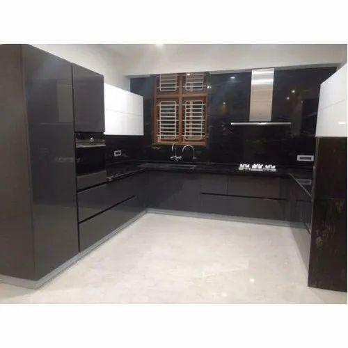 U Shape Gola Profile Modular Kitchen