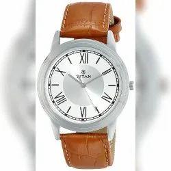Latest Titan Analog White Dial Men's Watch-NK1735SL01