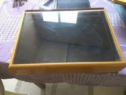 Wooden  Stock Box transparent