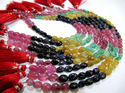 Ruby Emerald Sapphire Multi Precious Gemstone Beads