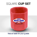 150 ml Clay Square Cups