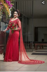 Net Saree With Pearl
