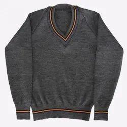 Woolen Full Sleeve Plain School Sweater