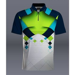 Printed Half Sleeve Stylish Sports T Shirt, N9