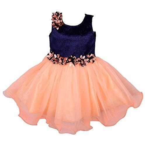 01989e929dc9e1 Synthetic Lycra And Net Party Wear Girls Frock, Rs 150 /piece   ID ...