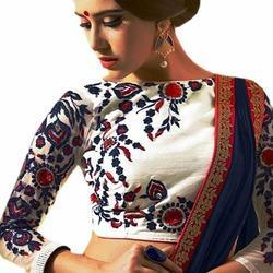 Embroidered Banglory Silk Unstitched Blouse