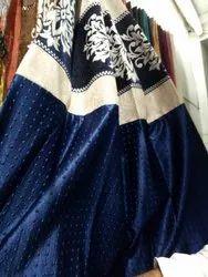 Silk Blue Fancy Curtain