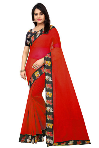 bf601269d Women Chanderi Cotton Saree