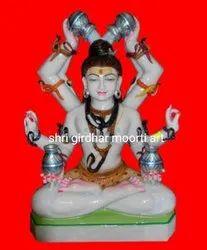 Rudra Avtar Marble Shiva Statue
