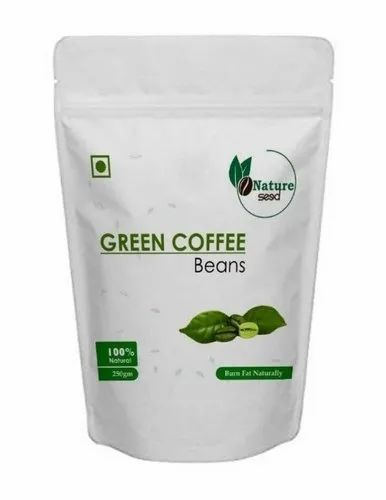Nature Seed Green Coffee Beans 250 Gm For Weight Loss Packaging