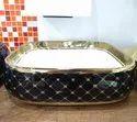 Black And Gold Designer Wash Basin