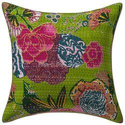 Decorative Kantha Printed Tropical Fruit Boho Cushion Cover