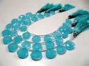 Aqua Chalcedony Briolette  Hydro Quartz Beads