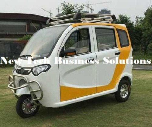 NTBS Solar AC Electric Rickshaw. Closed Solar Electric Rickshaw, For Schools, Personal Car, 3000