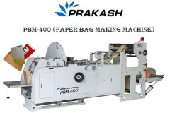 Prakash Automatic Paper Bag Making Machine, Model: PBM-400