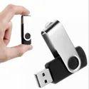Black Swivel USB Pen Drive