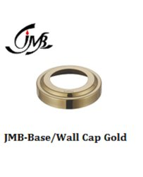 Stainless Steel Base/Wall Cap Gold Cover