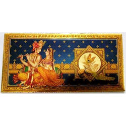 Radha Krishna Gold Plated Envelopes