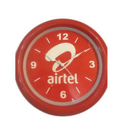 Red Promotional Wall Clock