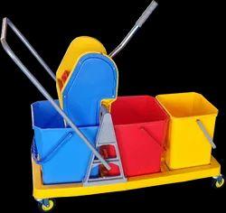 Three Bucket Wringer Trolley